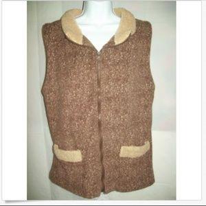Decorated originals Sz XL Brown Textured Faux Fur